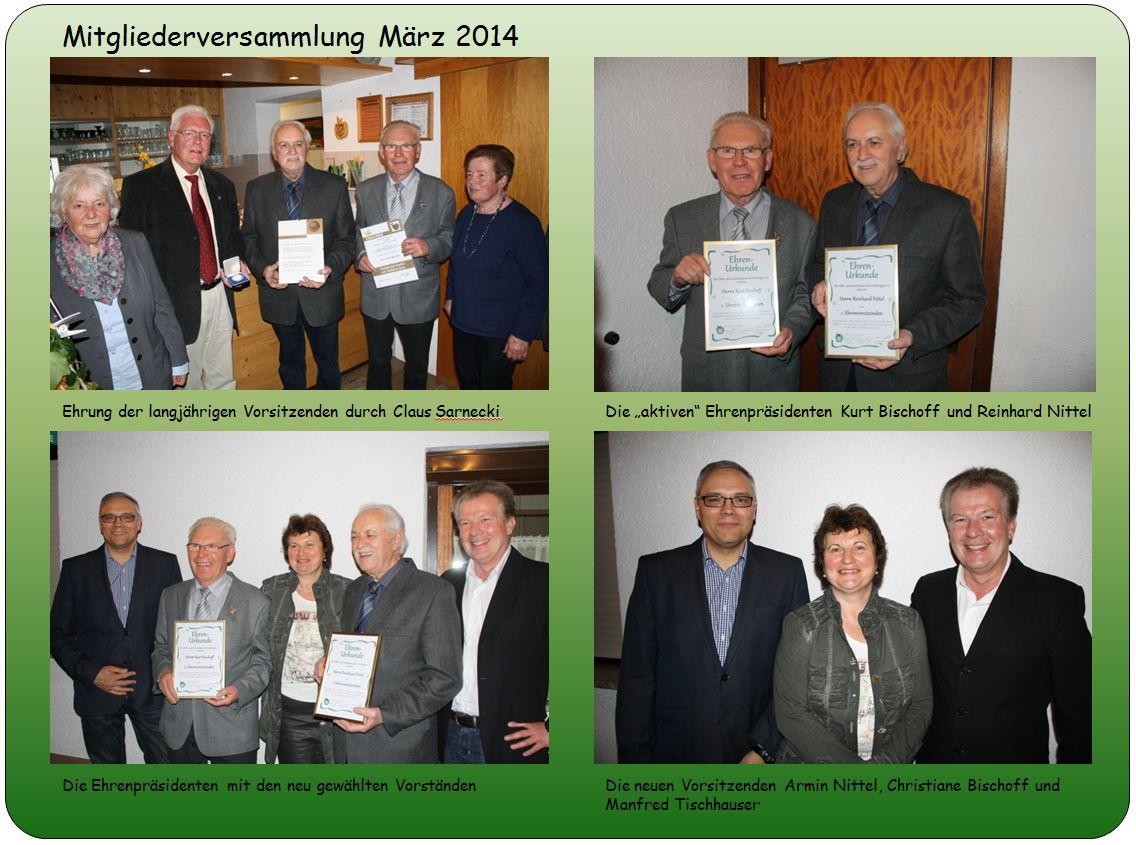 Mitgliederversammlung März 2014